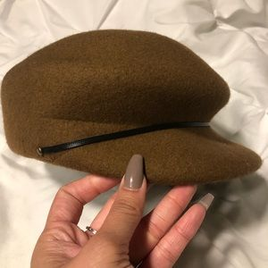 brown paper boy hat